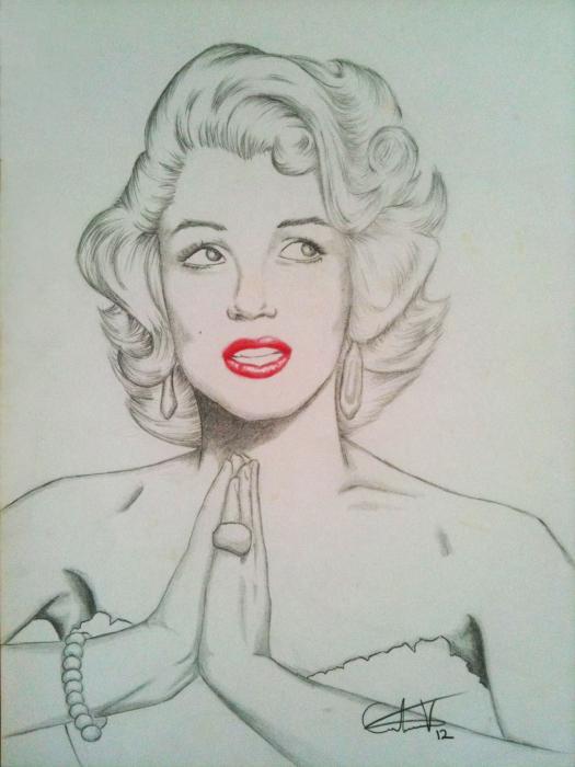 Marilyn Monroe by CarlosVelasquezArt
